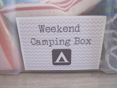 weekend camping kitchen box